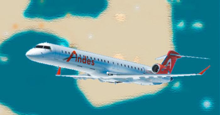 Avião voando, sobre península valdes patagonia argentina