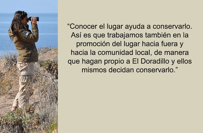 Guardafauna en El doradillo Puerto Madryn