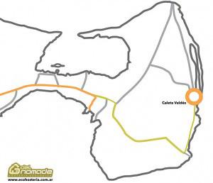 Mapa Caleta Valdes