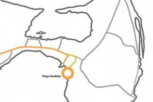 Mapa: Praia Pardelas