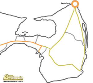 Karten: Punta Norte
