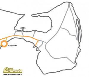 Karte Playa El Doradillo Puerto Madryn