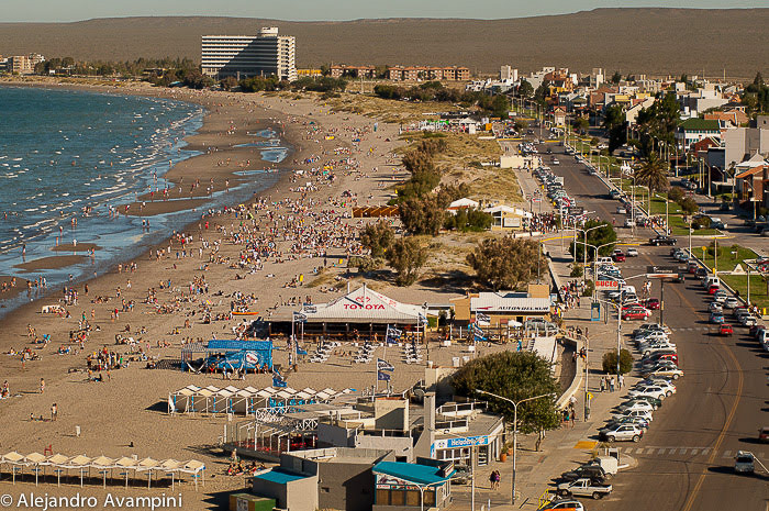 Puerto Madryn beach in summer