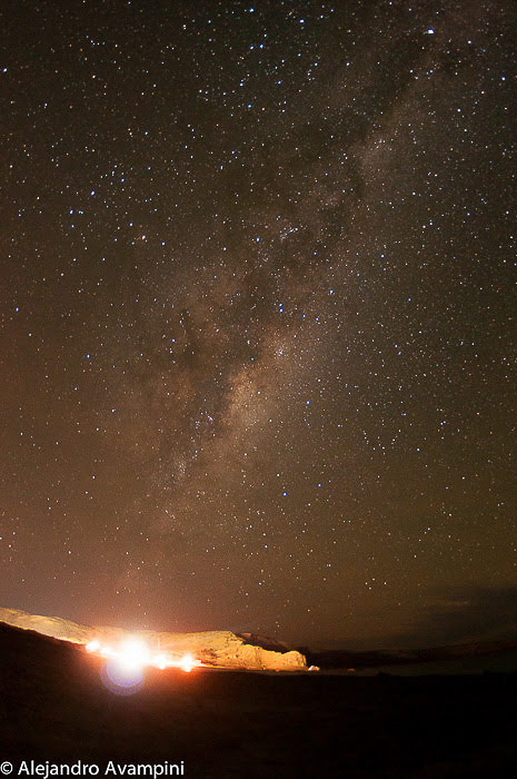 Milky Way night in Puerto Piramides