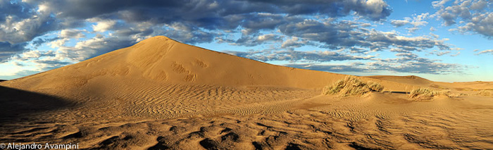 Dunes in Puerto Piramides - Halbinsel Valdes