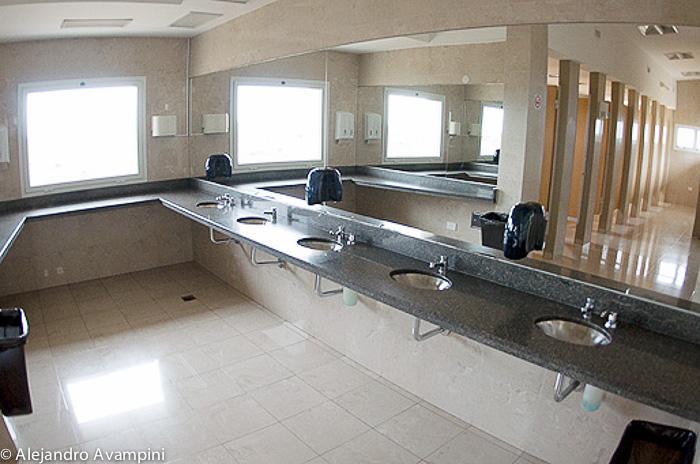 Museum bathroom WC Peninsula Valdes -