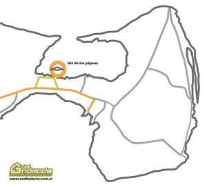 Mapa de Isla de los Pájaros Península Valdés