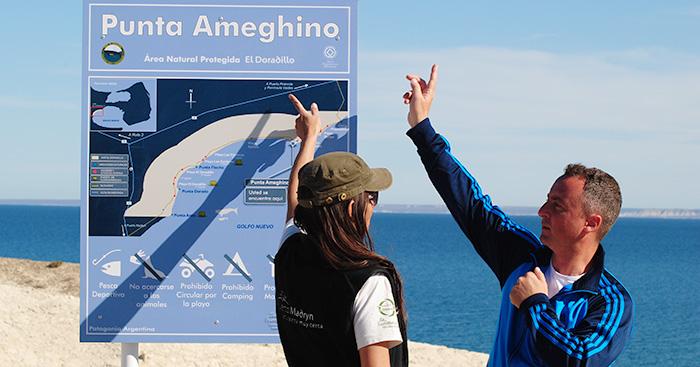 Directora de conservação na praia El Doradillo - Puerto Madryn