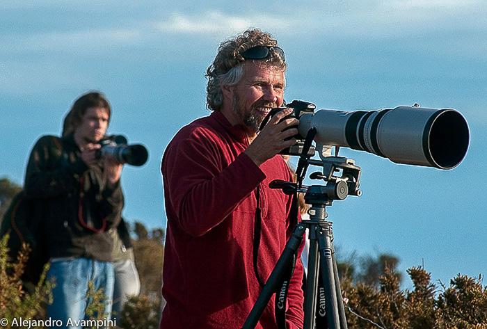 Fotografos en temporada de orcas en Punta Norte