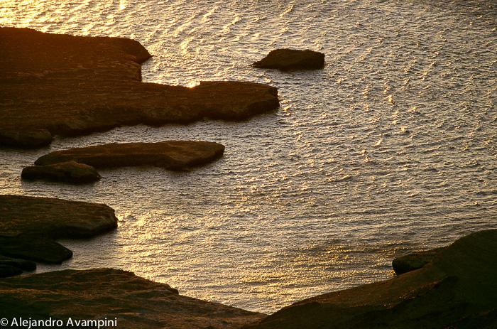 Marea alta Puerto Piramides Peninsula Valdes