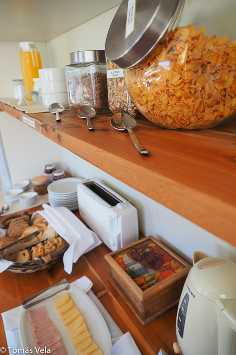 hotel breakfast in Puerto Piramides
