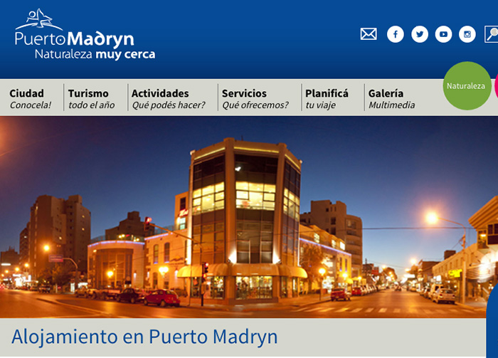 Hotels and accommodation in Puerto Madryn - Peninsula Valdes