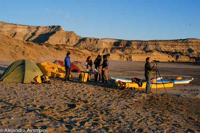 Adventure Kayak camp in Valdes Peninsula