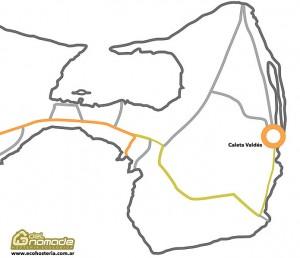 Mapa Caleta Valdés - Peninsula Valde