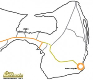 Mapa Punta Delgada - Peninsula Valdes