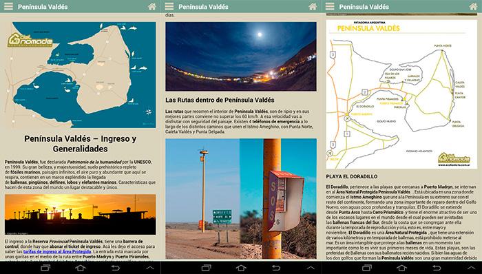 APP GUIA PEninsula Valdes MAPAS Info Data Patagonia ARgentina