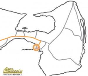 Mapa Punta Piramide - Peninsula Valdes
