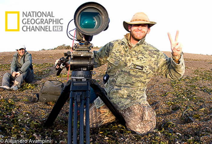Nature Photographer Andy Casagrande (National Geographic) in Punta Norte