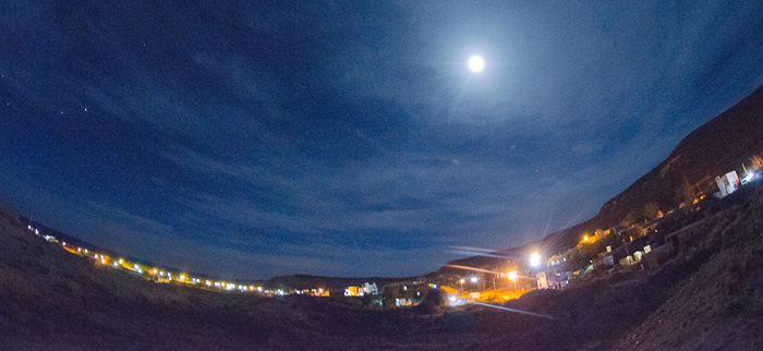Puerto Pirámides de noche - Peninsula Valdes