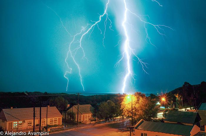 Storm over Puerto Pirámides