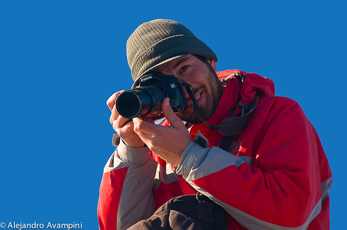 Photographer whale watching - Puerto Piramides