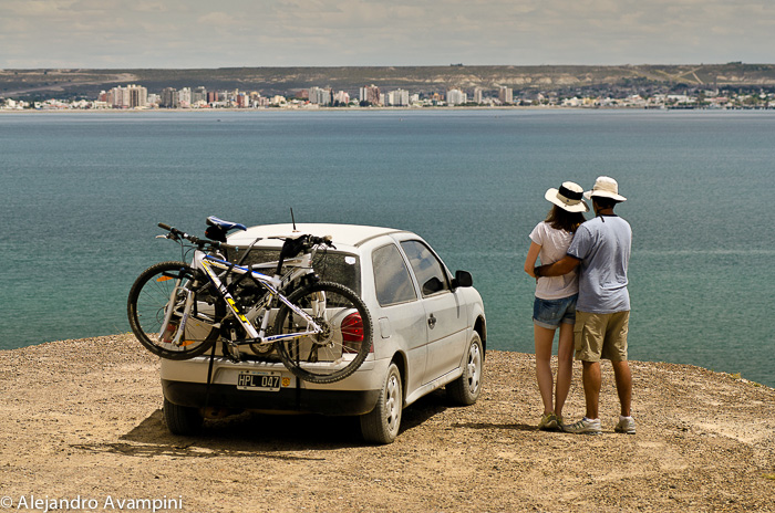 Tourists in Puerto Madryn - Peninsula Valdes