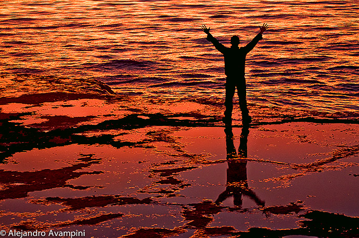 Sunset - Peninsula Valdes - Patagonia Argentina