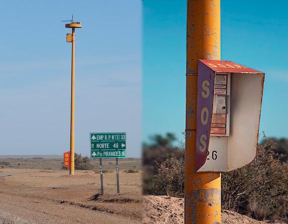 Sos telephone Peninsula Valdes Patagonia Argentine